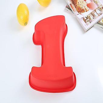 Silikonová digitální forma, dort čísla tvar - dezert dekorace nástroj