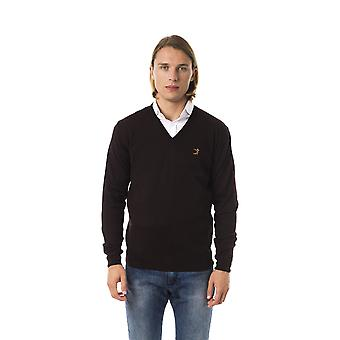 Uominitaliani Moro Extrafine Merinos Brown Sweater