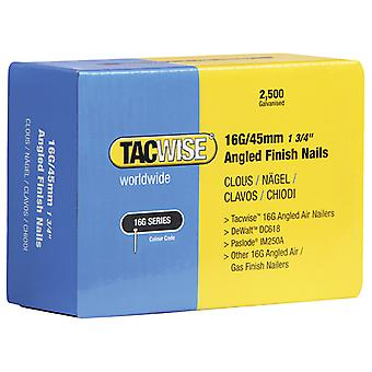 Tacwise 16 Gauge Angled Nails 50mm For DC618K Pack 2500 TAC0772