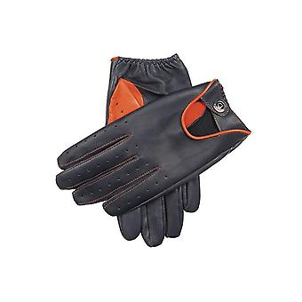 Men's Leather  Driving Gloves with Contrasting Thumb and Welt