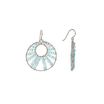 Zilveren oorbellen en parels van blauwe culturen - Oceane- apos;