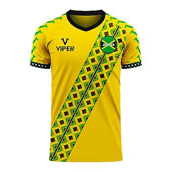 Jamaica 2020-2021 Home Concept Football Kit (Viper) - Adult Long Sleeve