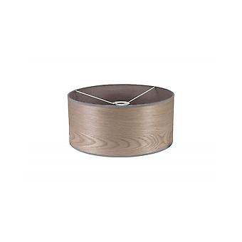 Araminta Round, 395 X 180mm Wood Effect Shade, Grey Oak/white Laminate