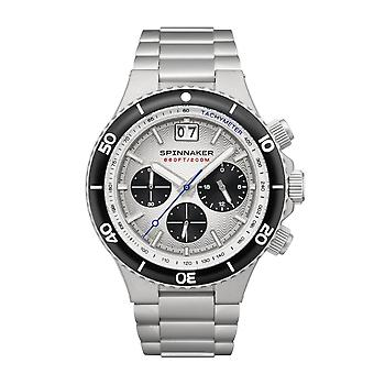 Spinnaker SP-5086-33 Gent-apos;s Hydrofoil White Dial Wrmwatch