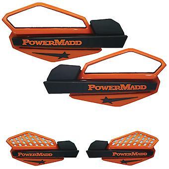 Powermadd 34205 Star Handguard System - Orange/svart