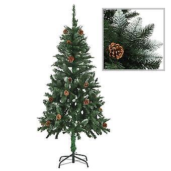 人工クリスマスツリーパインコーンホワイトグリッター150センチ
