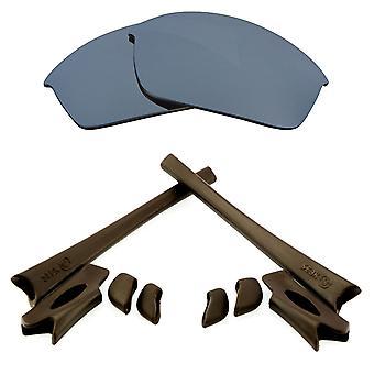 Replacement Lenses Kit for Oakley Flak Jacket Silver Mirror Brown Anti-Scratch Anti-Glare UV400 by SeekOptics