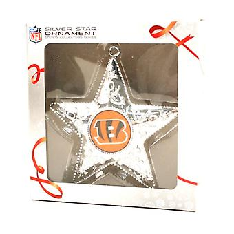 Cincinnati Bengals NFL Sports Collectors Series Silver Star Ornament