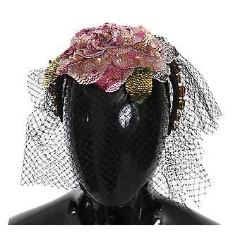 Diadem netted headband floral crystal fascinator
