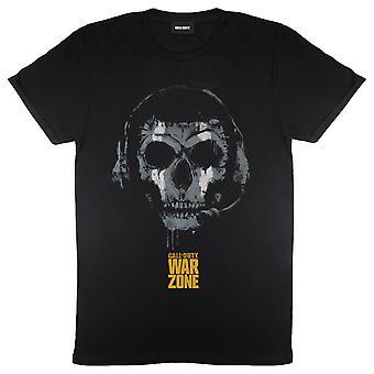 Womens Call Of Duty Boyfriend Fit T Shirt Warzone Skull Headset