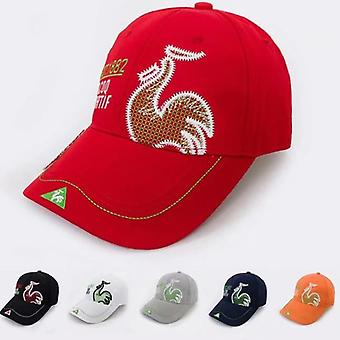 Swirling Golf Exquisite Embroidery Outdoor Sports Sun Hat, Uv Protection Cap