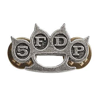 Viisi sormi kuoleman booli Pin rintanappi rysty Duster yhtyeen Logo uusi virallinen metallinen