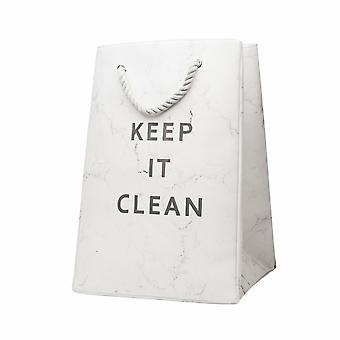 Marble Keep It clean Pattern Laundry Storage Organizer Bin Pop-up Laundry Bag