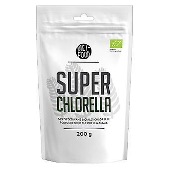 Super Chlorella Powder - 200g - Natural Vegan Friendly Algae Powder, Organic, Rich Protein Source, Additive Free For Dieting, With Amino Acids