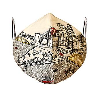 Pittsburgh Embroidered Skyline Fashionable Face Mask