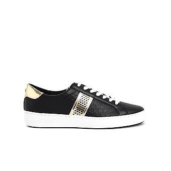 Michael By Michael Kors 43t0irfs6l001 Women's Black Leather Sneakers
