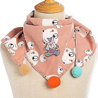 Baby Dot Plaid Triangle Scarves Autumn Winter Shawl Cotton Neckerchief