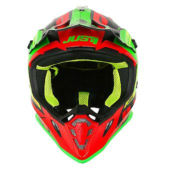 Just 1 J38 MX Full Face Off Road Helmet Red Green Black ACU Approved