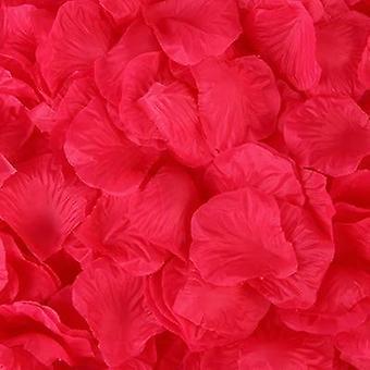 100pcs / حزمة 5 * 5cm الاصطناعي الزهور المحاكاة روز بتلات الديكورات