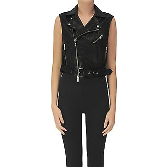 Bully Ezgl161007 Women's Black Leather Vest