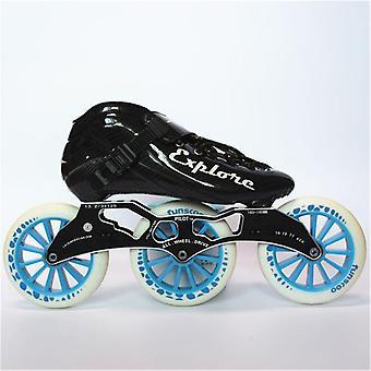 Eur Size 30-44 Speed Inline Skates Carbon Fiber Competition Skate 3*125mm