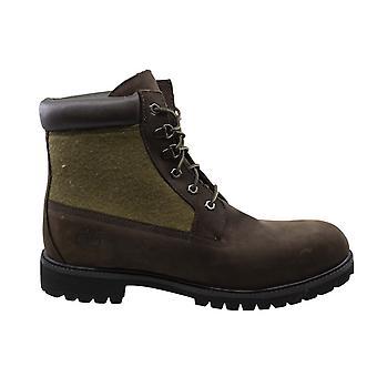 تيمبرلاند 6 بوصة لوحة براون دوبوك الجلود الدانتيل حتى أحذية الرجال 48517