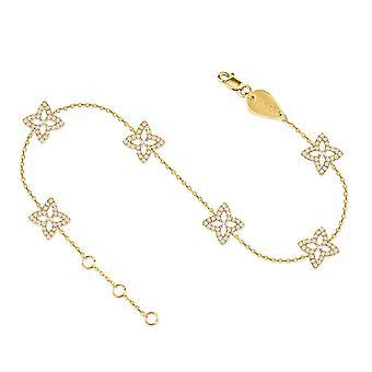 Anklet Constellation Hera, 18K kultaa ja timantteja