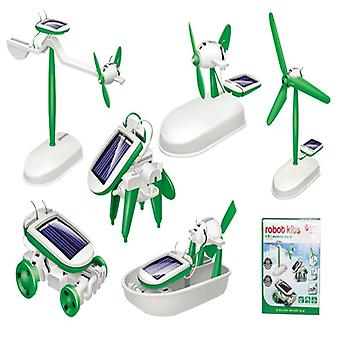 Assembled Solar Robot. Power Diy. Small Invention Educational Energy Set.