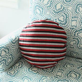 "Lurik Round Striped Decorative Round Pillow Cover 16"", Circle Pillow"