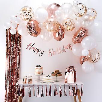 Rose goud & witte ballon Arch Kit-partij bruiloft decoratie