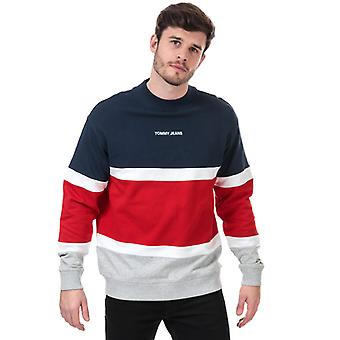 Męska bluza z kolorami w kolorze niebieskim