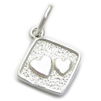 Double Heart Sterling Zilveren Charm .925 X 1 Harten Liefde Charmes - 4752