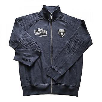 Lamborghini Driving Zip Up Sweatshirt Dark Navy Melange