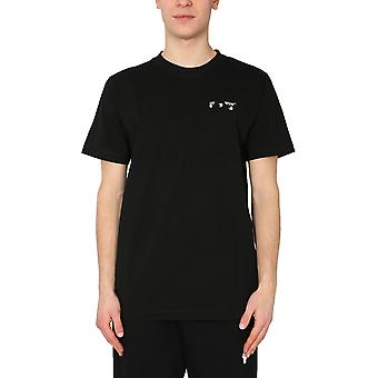 Off-white Omaa027r21jer0011001 Mænd's Black Cotton T-shirt