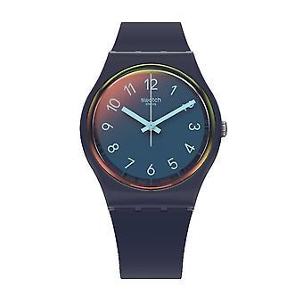 Swatch Gn274 La Night Blue Silicone Watch