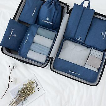 Travel Bag Set, Women & Men Luggage Organizer For Clothes Shoe