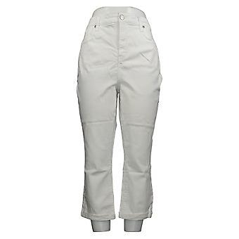 NYDJ Women's Pants Chloe 5-Pocket Capris Optic White A374987