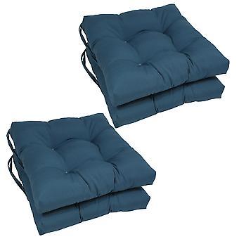 Coussins de chaise touffu en twill massif de 16 pouces (ensemble de 4) - Indigo