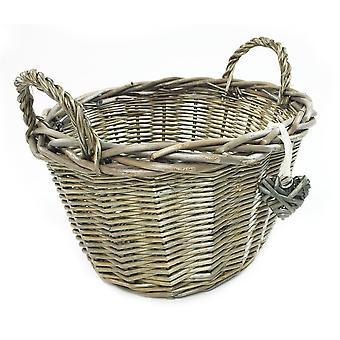 Oval Deep Fruit Wicker Storage Baskets