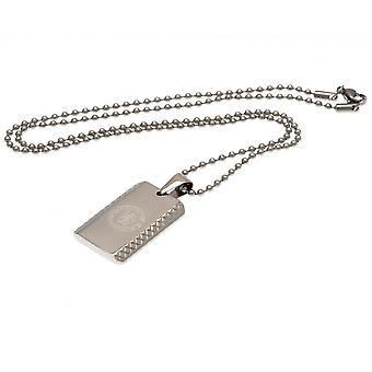 Chelsea FC Patterned Dog Tag And Chain