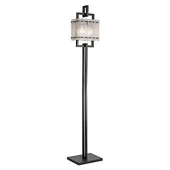 Lámpara De Pie Led Flow 2 Bombillas Negro Mate 121,2 Cm