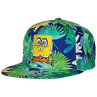 SvampBob SquarePants Tropisk Blommig Flatbill Snapback Hatt