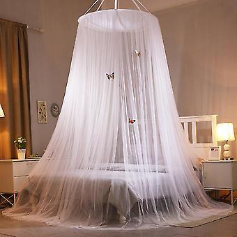 Plasă de țânțari, plasă rotundă de țânțari, înțepătură anti-țânțar pe pat de o persoană și pat dublu, ușor de instalat