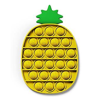 Stuff Certified® Pop It - Fidget Anti Stress Toy Bubble Toy Silicone Pineapple Yellow