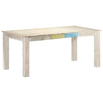 Dining Table White 180x90x76 Cm Solid Mango Wood
