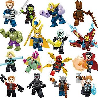 16st Marvel Super Heroes Fit Lego Avengers Infinity War Mini Figuur Man Hulk