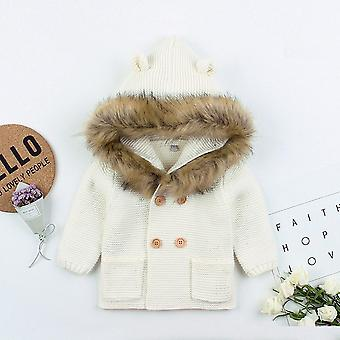 Kid,, Knitted Warm Outwear Coat, Cardigans Winter Jacket, Clothes Outfit