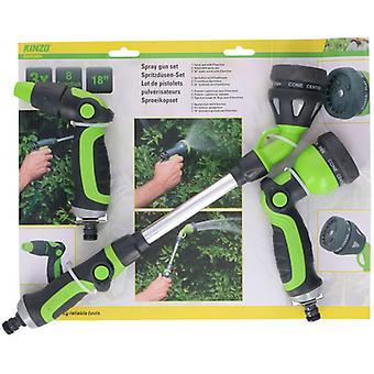 nozzle set ABS/aluminium 45 cm green/grey 3-piece