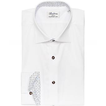 Stenstroms Slimline Patterned Trim Shirt