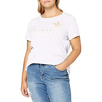 ONLY Carmakoma Carfoil Life SS Reg Tee Shirt, Bright White, M-46/48 Woman